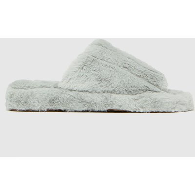 Schuh Grey Harlow Faux Fur Slippers