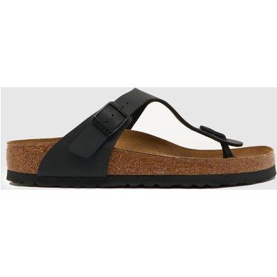 BIRKENSTOCK Black Gizeh Sandals