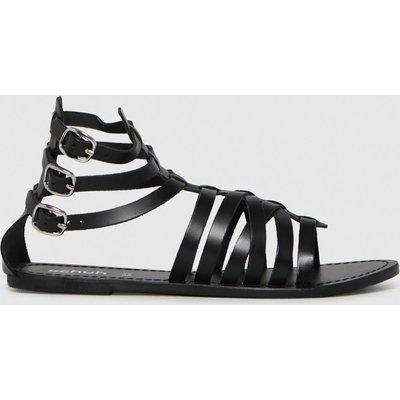 Schuh Black Taurus Leather Gladiator Sandals