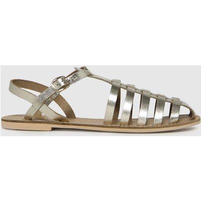 Schuh Gold Larissa Leather Fisherman Flat Shoes