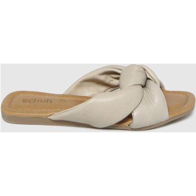 Schuh Natural Tiara Leather Knot Sandals