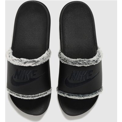 Nike Black Off Court Leather Sandals
