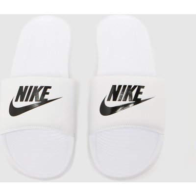 Nike White & Black Victori One Sandals