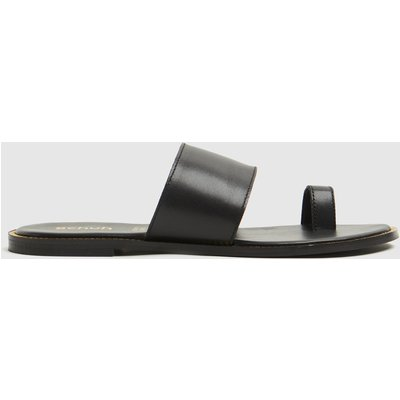 Schuh Black Tessi Toe Loop Stud Sandal Sandals