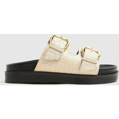 Schuh Natural Tash Chunky Buckle Footbed Sandals