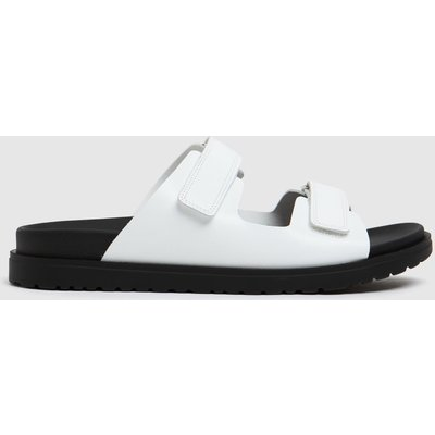 The Edit By Schuh White Pearl Leather Sandals