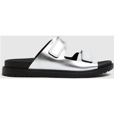Schuh Silver Pearl Leather Sandals