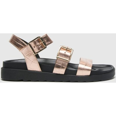Schuh Bronze Chaser Croc Leather Chunky Buc Sandals