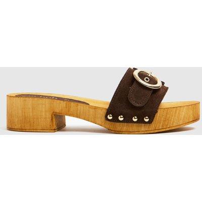Schuh Brown Vanessa Suede Clog Sandals