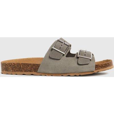 Schuh Grey Trust Nubuck Double Buckle Sandals