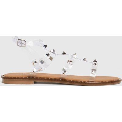 Schuh Clear Tara Perspex Studded Gladiator Sandals