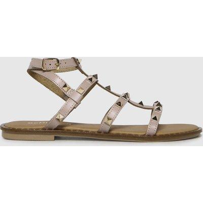 Schuh Natural Tara Leather Studded Gladiator Sandals