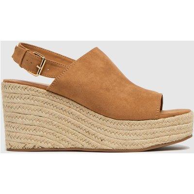 Schuh Tan Vicky High Vamp Espadrille Sandals