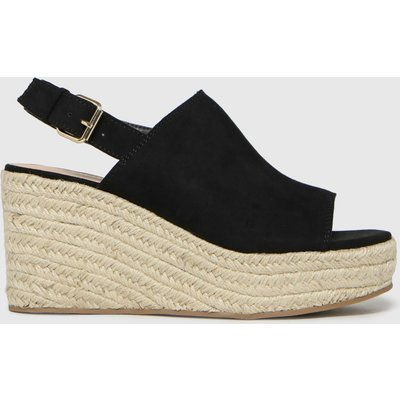 Schuh Black Vicky High Vamp Espadrille Sandals