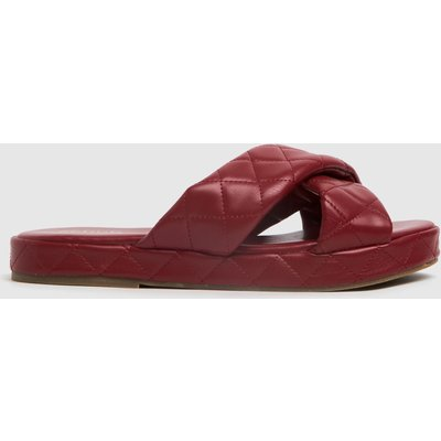 Schuh Red Trudie Padded Cross Strap Sandals