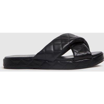 Schuh Black Trudie Padded Cross Strap Sandals