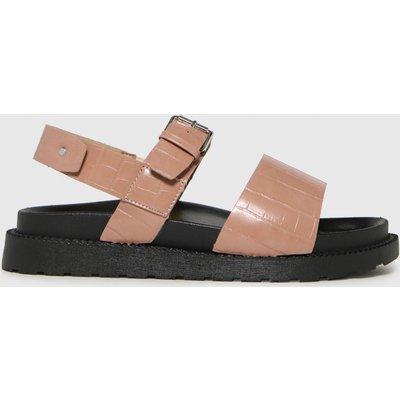 Schuh Natural Taytum Croc Back Strap Sandals