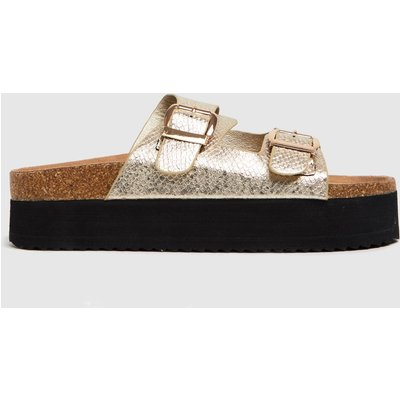 Schuh Gold Tillie Double Height Footbed Sandals