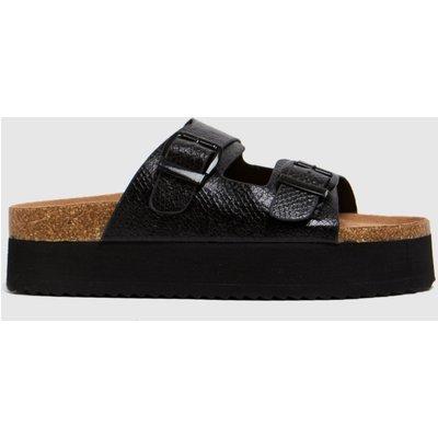 Schuh Black Tillie Double Height Footbed Sandals