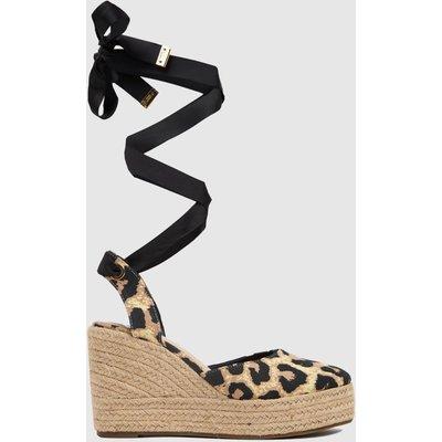 Schuh Black & Brown Vertigo Closed Toe Espadrille Sandals