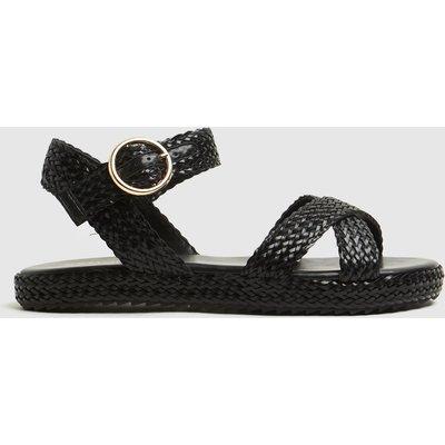 Schuh Black Verity Buckle Sandals