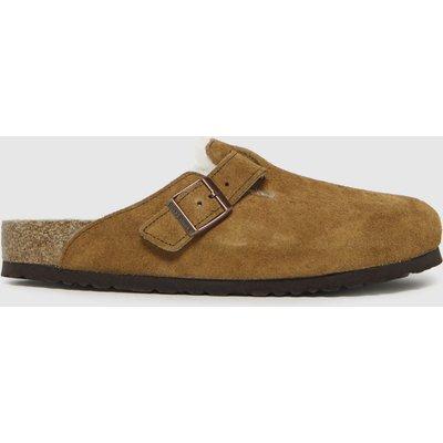 BIRKENSTOCK Tan Boston Shearling Sandals