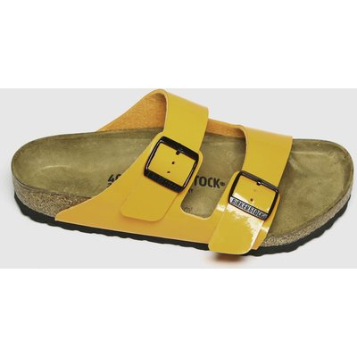 BIRKENSTOCK Orange Arizona Patent Sandals