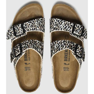 BIRKENSTOCK Brown & Black Leopard Print Arizona Sandals