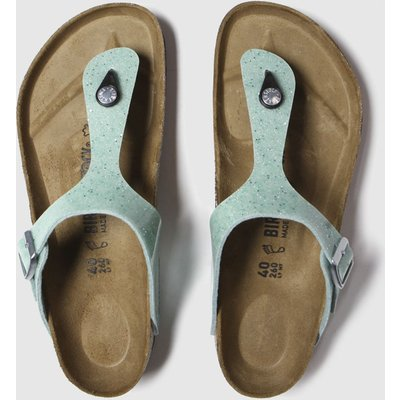 BIRKENSTOCK Green Cosmic Sparkle Gizeh Sandals