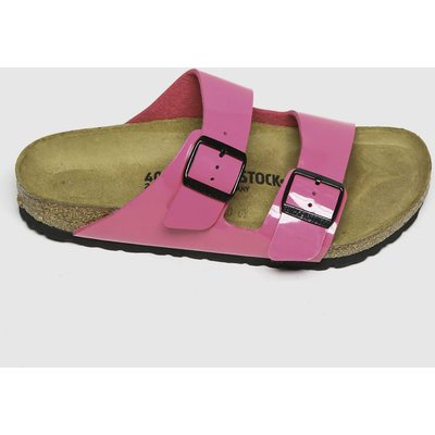 BIRKENSTOCK Pink Arizona Patent Sandals