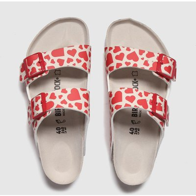 BIRKENSTOCK Red Arizona Hearts Sandals