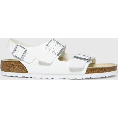 BIRKENSTOCK White Milano Sandals