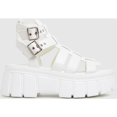 Schuh White Tami Chunky Sandals