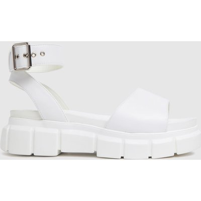 Schuh White Trilary Chunky Sandals