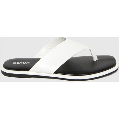 Schuh White Tracy Toe Post Sandals