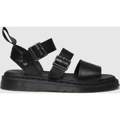Dr Martens Black Shore Gryphon Strap Sandals
