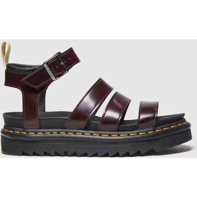 Dr Martens Burgundy Vegan Blaire Sandals