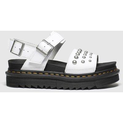 Dr Martens White Voss Stud Sandals