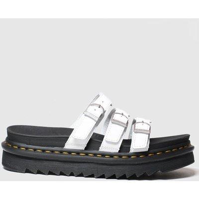 Dr Martens White Blaire Slide Sandals
