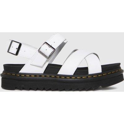 Dr Martens White Voss Ii Sandals