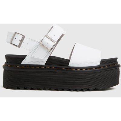 Dr Martens White Voss Quad Sandals