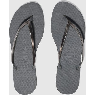 Havaianas Grey You Metallic Sandals