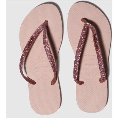 Havaianas Pink Slim Glitter Sandals