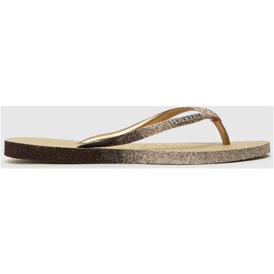 Havaianas Gold Slim Sparkle Sandals