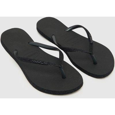 Havaianas Black Slim Sparkle Sandals