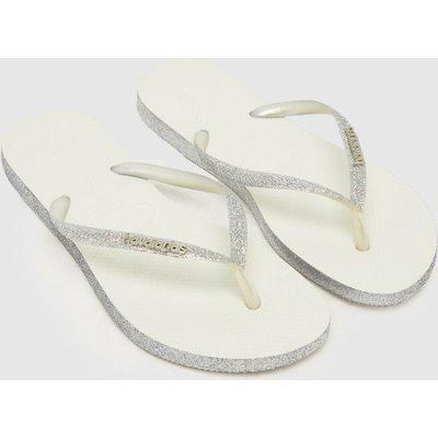 Havaianas Silver Slim Sparkle Sandals
