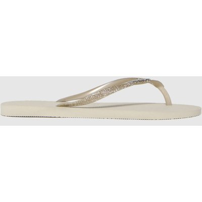Havaianas Beige Slim Glitter Sandals