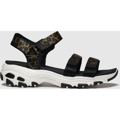 Skechers Black & Brown Dlites Fresh Catch Sandals
