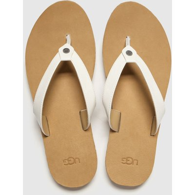 UGG White Tawney Sandals