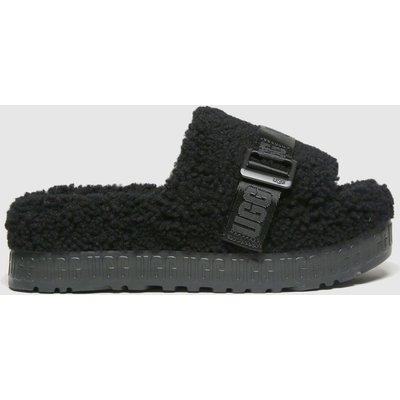 UGG Black Fluffita Slippers